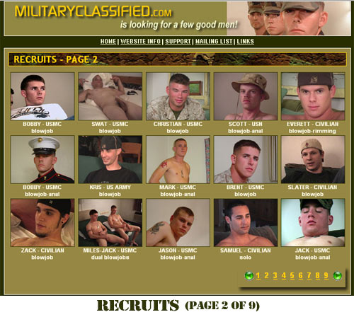 MilitaryClassified Recruits Page 2
