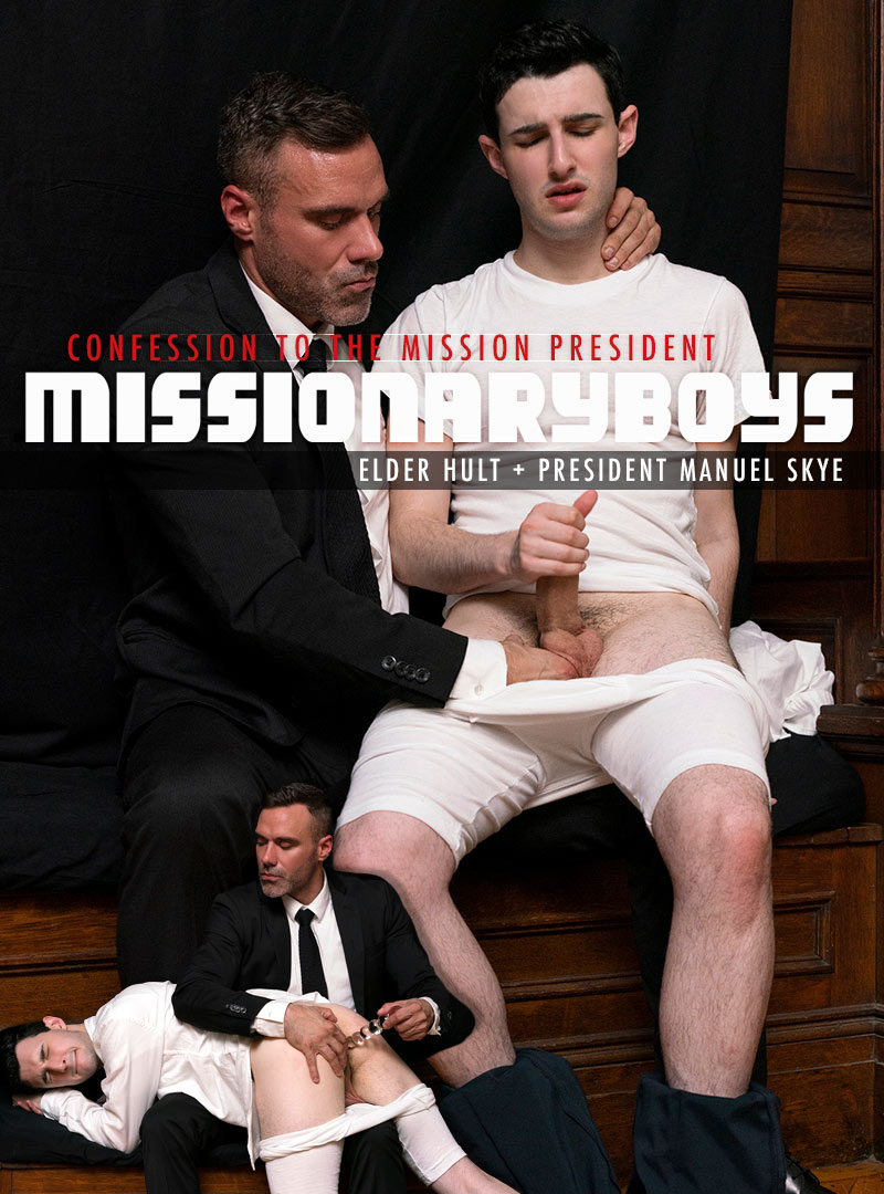 CONFESSION TO THE MISSION PRESIDENT: Elder Hult (with President Manuel Skye) at MissionaryBoys