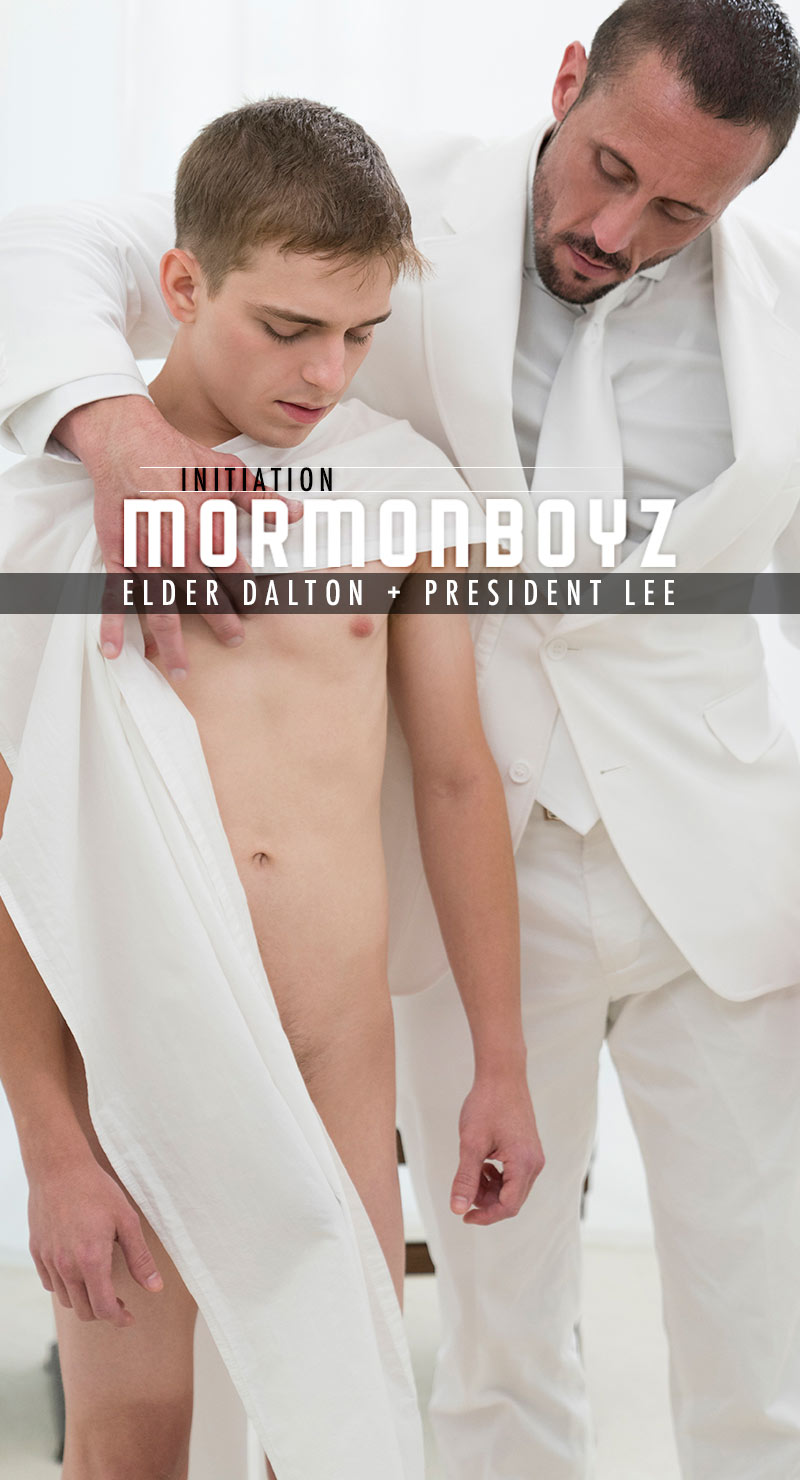 INITIATION: Elder Dalton (with President Lee) at MormonBoyz.com