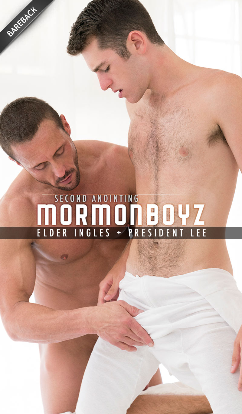 SECOND ANOINTING: Elder Ingles (with President Lee) at MormonBoyz.com