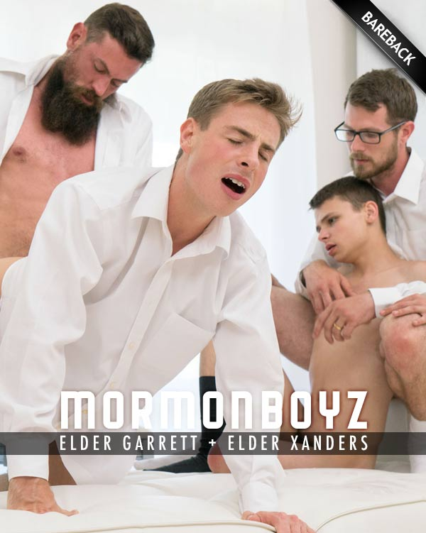 Bonds of Brotherhood: Elder Garrett & Elder Xanders (with Brother Erying & Brother Strang) at MormonBoyz.com