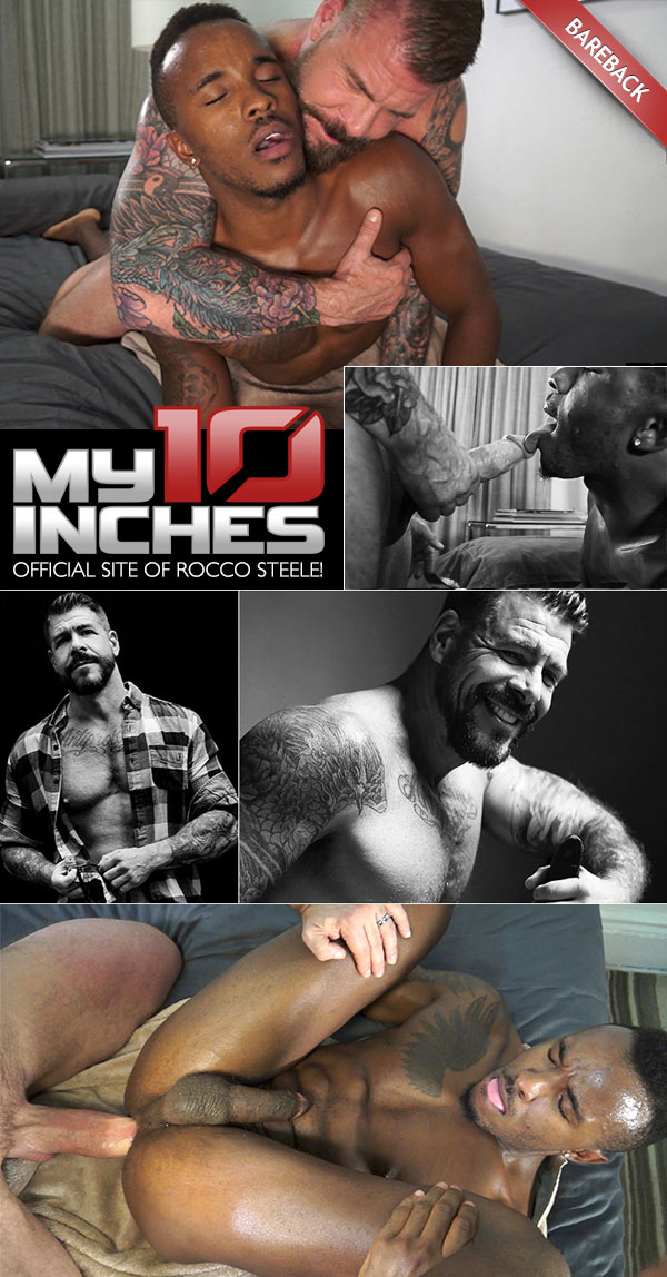 Fucking Pheonix Fellington (with Rocco Steele) (Bareback) at My 10 Inches