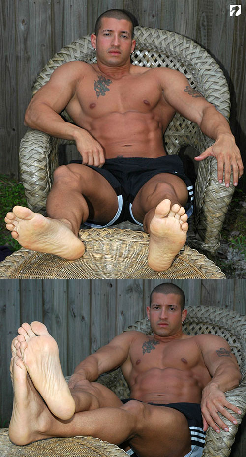 Bodybuilder Nelson at My Friend's Feet