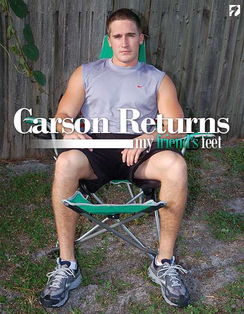 Carson Returns to My Friend's Feet