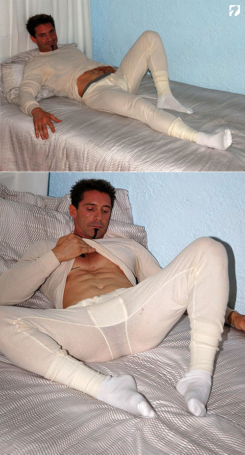Trevor in His Long Johns at My Friend's Feet