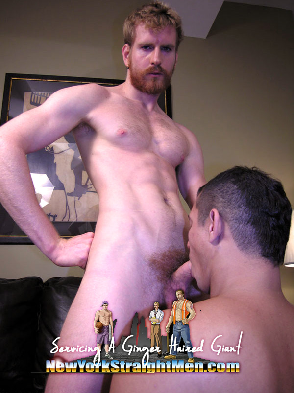 Servicing A Ginger Haired Giant at New York Straight Men