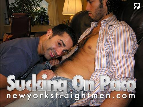 Sucking On Paco at New York Straight Men