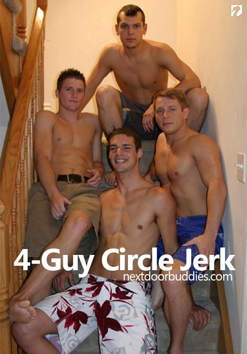 4 Guy Circle Jerk at Next Door Buddies