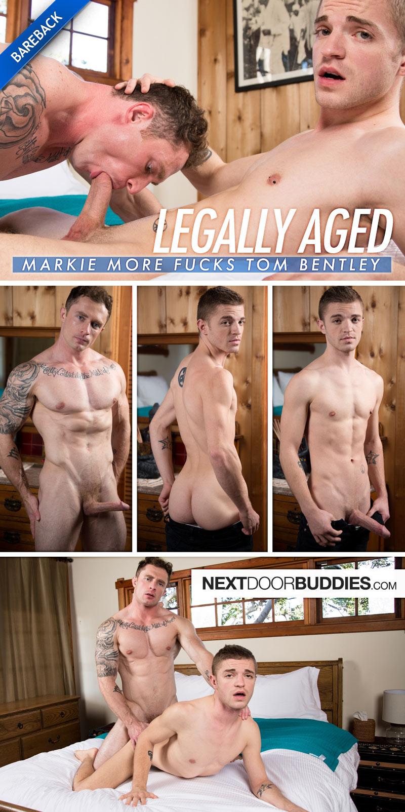 Legally Aged (Markie More Fucks Tom Bentley) (Bareback) at Next Door Buddies
