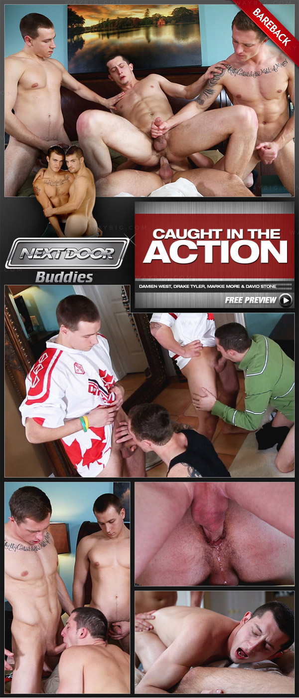 Caught in the Action (Damien West, Drake Tyler, Markie More & David Stone) at Next Door Buddies