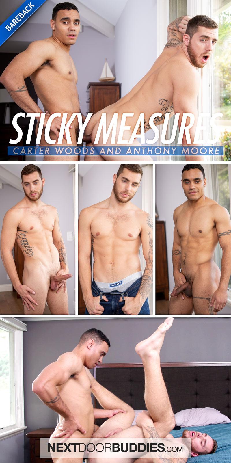 Sticky Measures (Anthony Moore Fucks Carter Woods) (Bareback) at Next Door Buddies