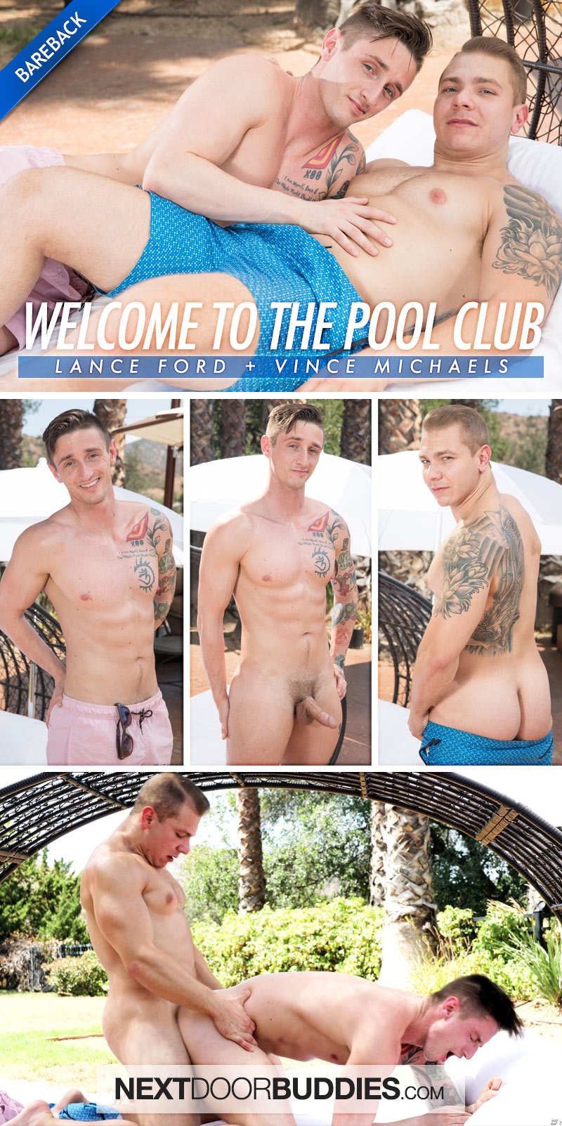 Welcome to the Pool Club (Vince Michaels Fucks Lance Ford) (Bareback) at Next Door Buddies