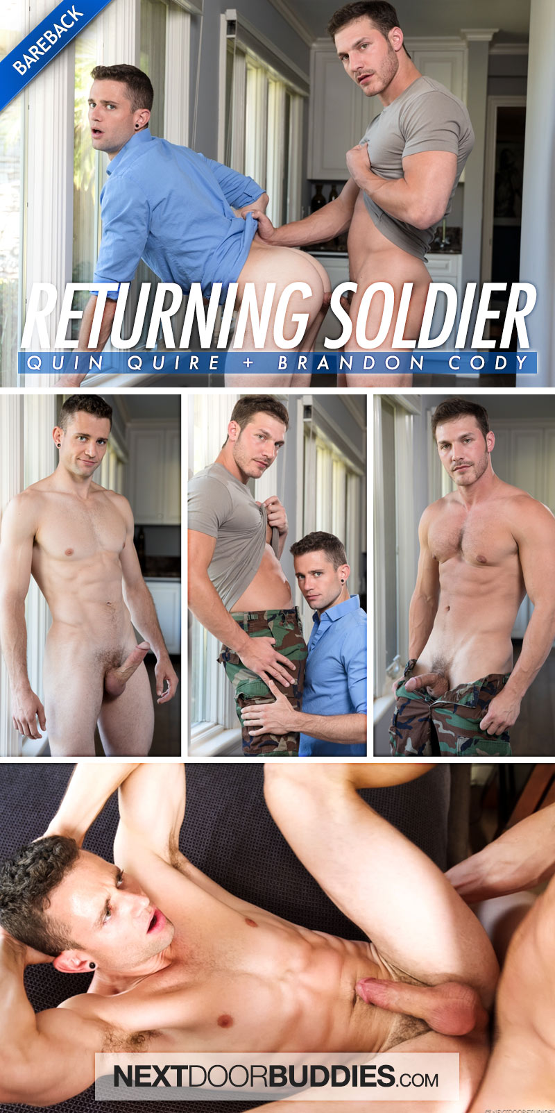 Returning Soldier (Brandon Cody Fucks Quin Quire) (Bareback) at Next Door Buddies