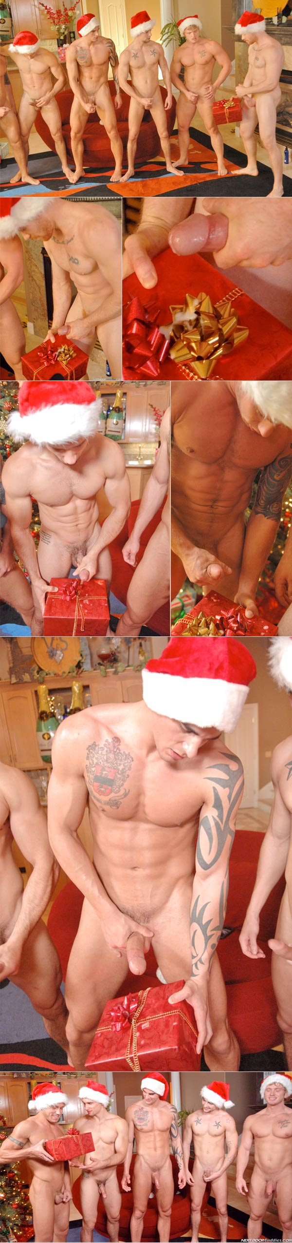 Christmas Orgy (Johnny Torque, James Jamesson, Tyler Torro, Anthony Romero, James Huntsman & Brody Wilder) at Next Door Buddies