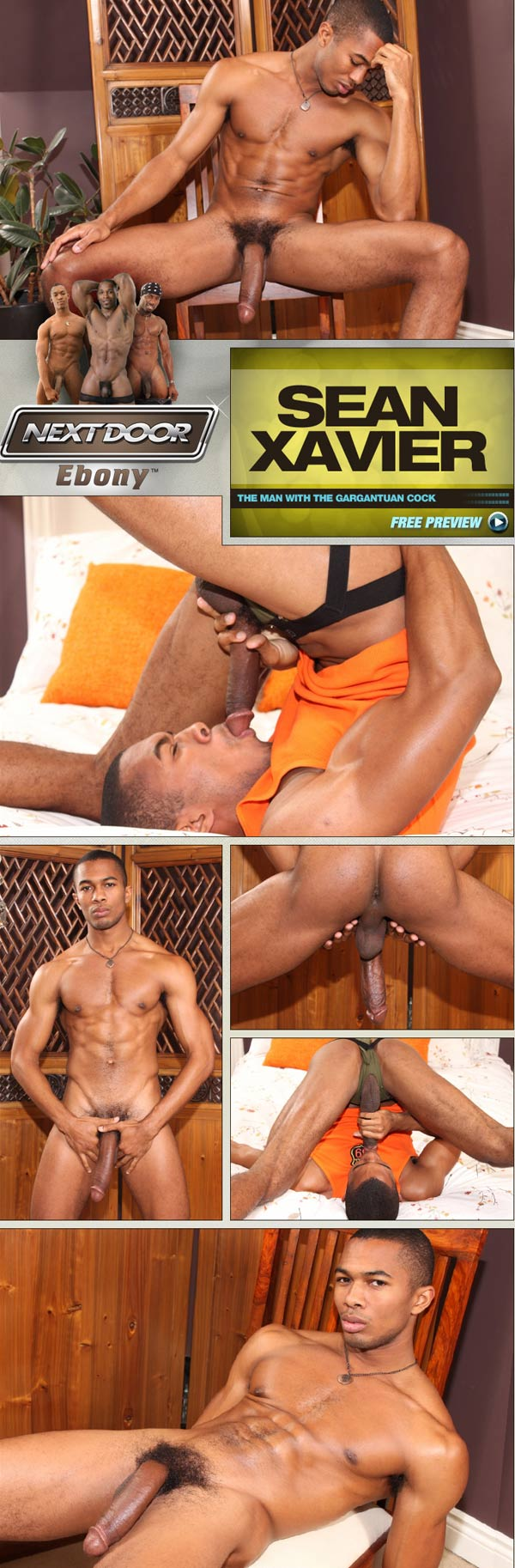 Sean Xavier (The Man With the Gargantuan Cock) at NextDoorEbony