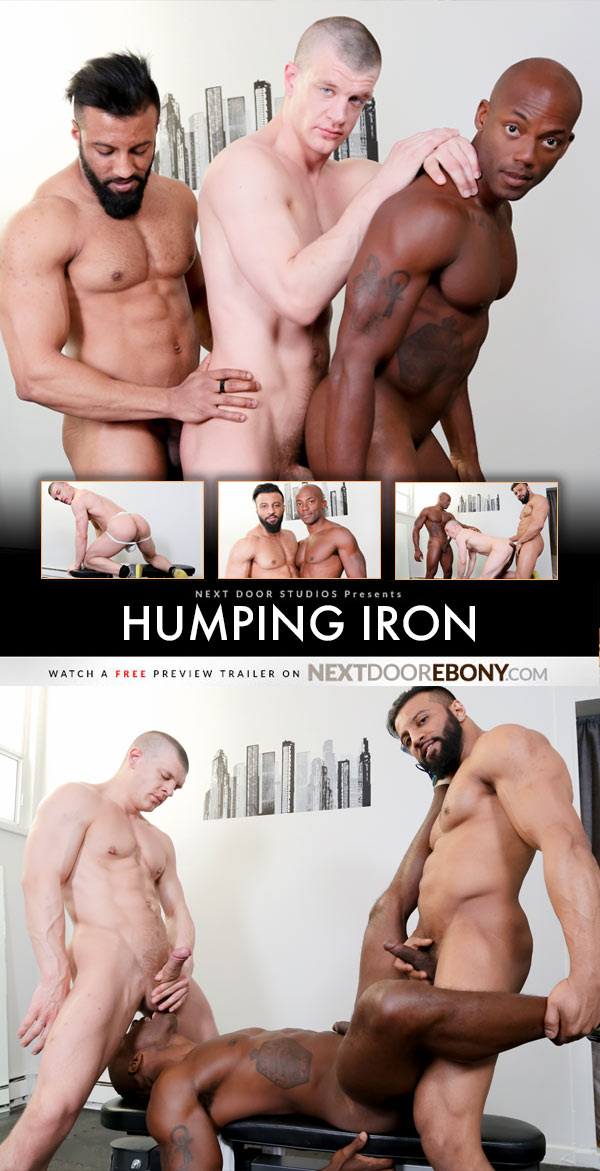 Humping Iron (Osiris Blade, Caleb King & Damian Flexxx) at NextDoorEbony