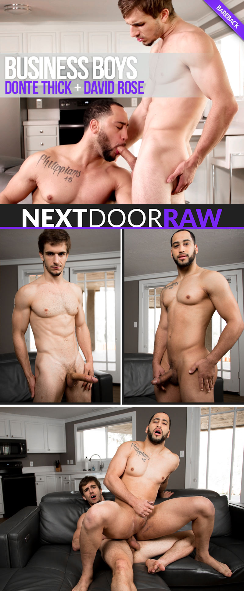 Business Boys (Donte Thick Fucks David Rose) (Bareback) at NextDoorRAW!