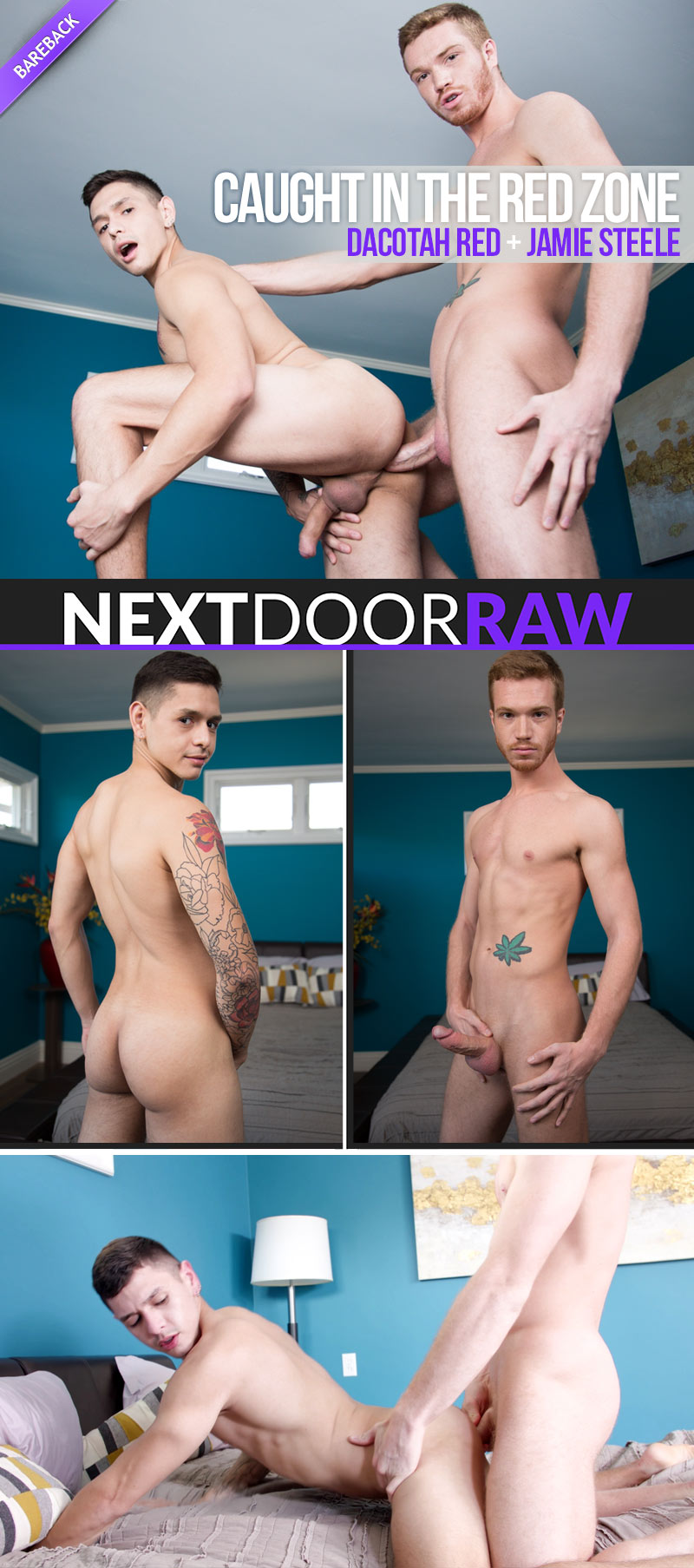 Caught in the Red Zone (Dacotah Red Fucks Jamie Steel) (Bareback) at NextDoorRAW!