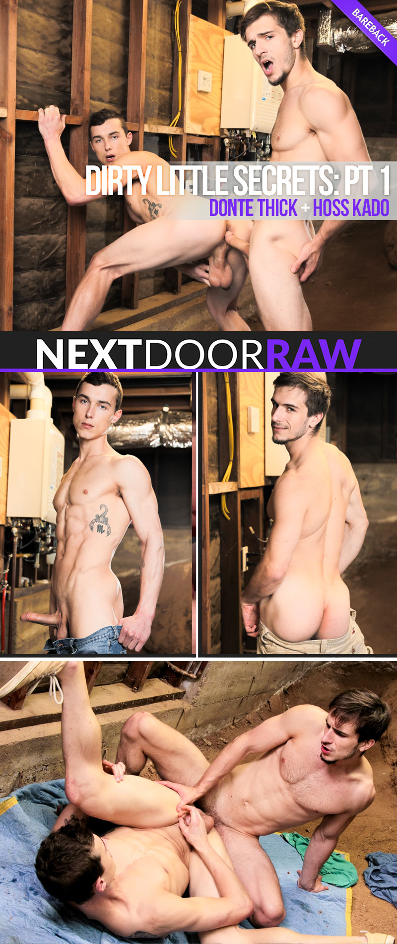 Dirty Little Secrets, Part One (Donte Thick Fucks Hoss Kado) (Bareback) at NextDoorRAW!