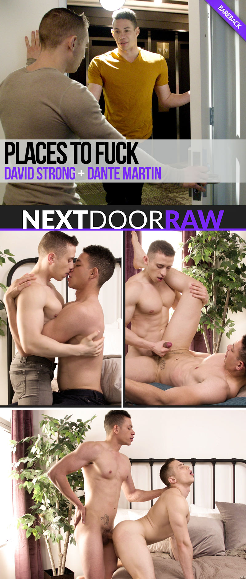 Places To Fuck (David Strong and Dante Martin Flip-Fuck) at NextDoorRAW!