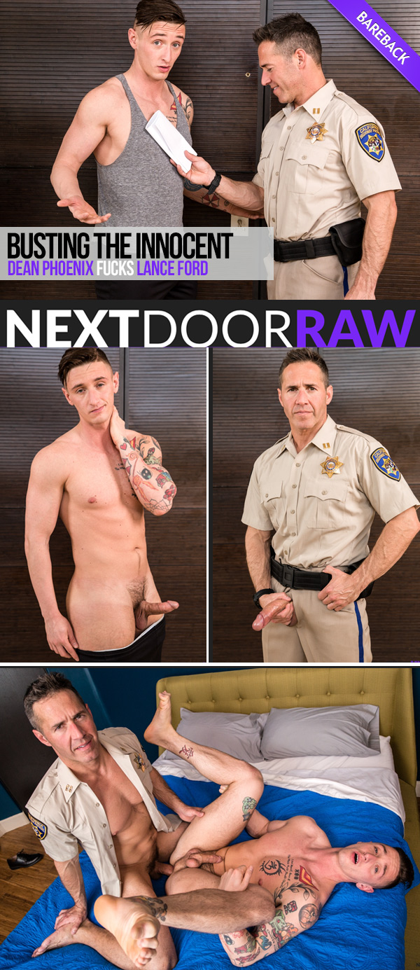 Busting The Innocent (Dean Phoenix Fucks Lance Ford) (Bareback) at NextDoorRAW