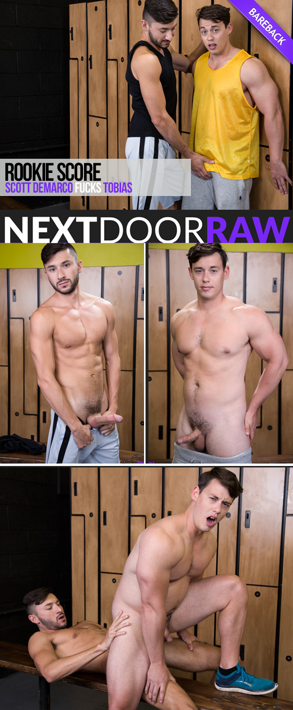 Rookie Score (Scott Demarco Fucks Tobias) (Bareback) at NextDoorRAW