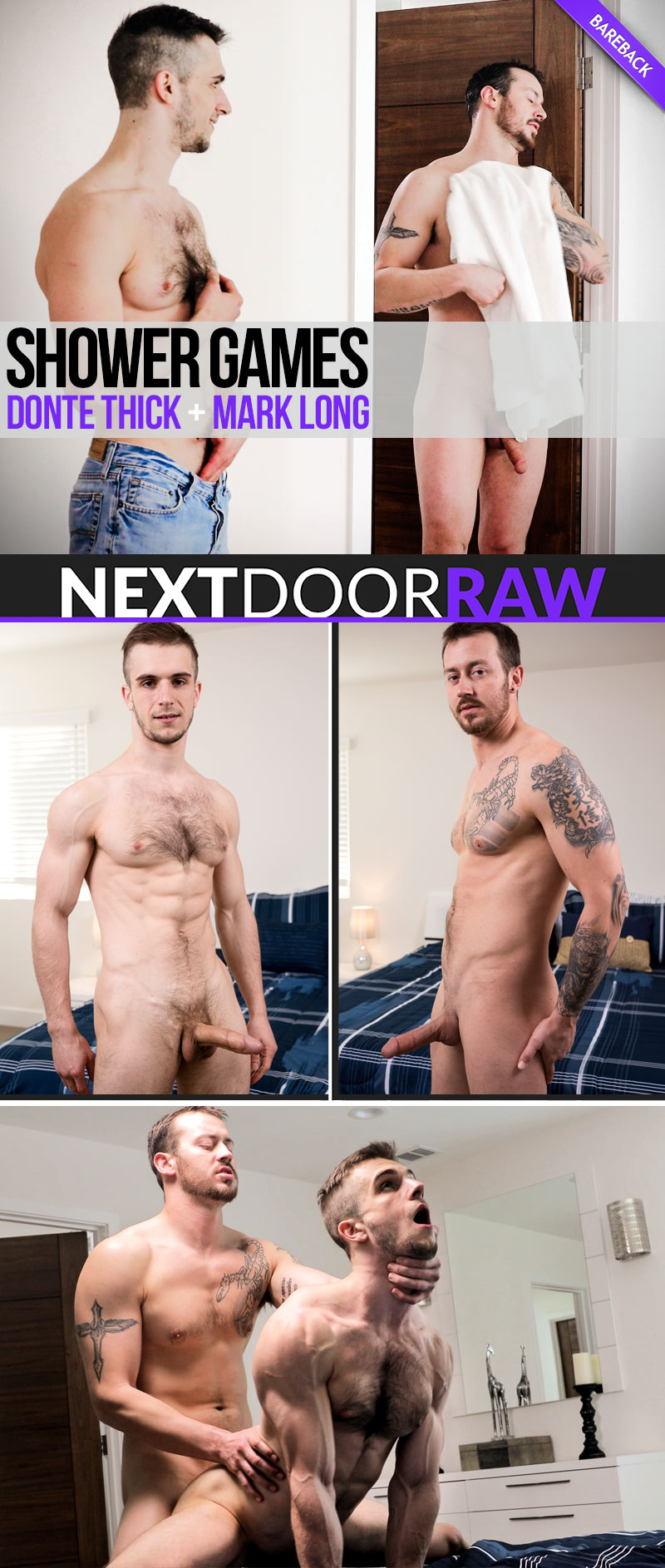 Shower Games (Mark Long and Donte Thick Flip-Fuck) at NextDoorRAW!