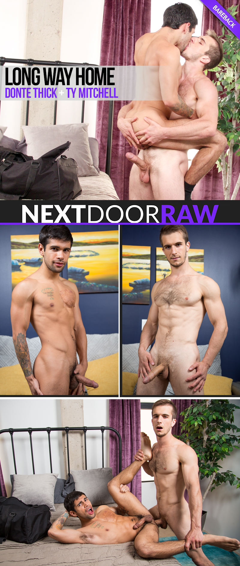 Long Way Home (Donte Thick Fucks Ty Mitchell) at NextDoorRAW!