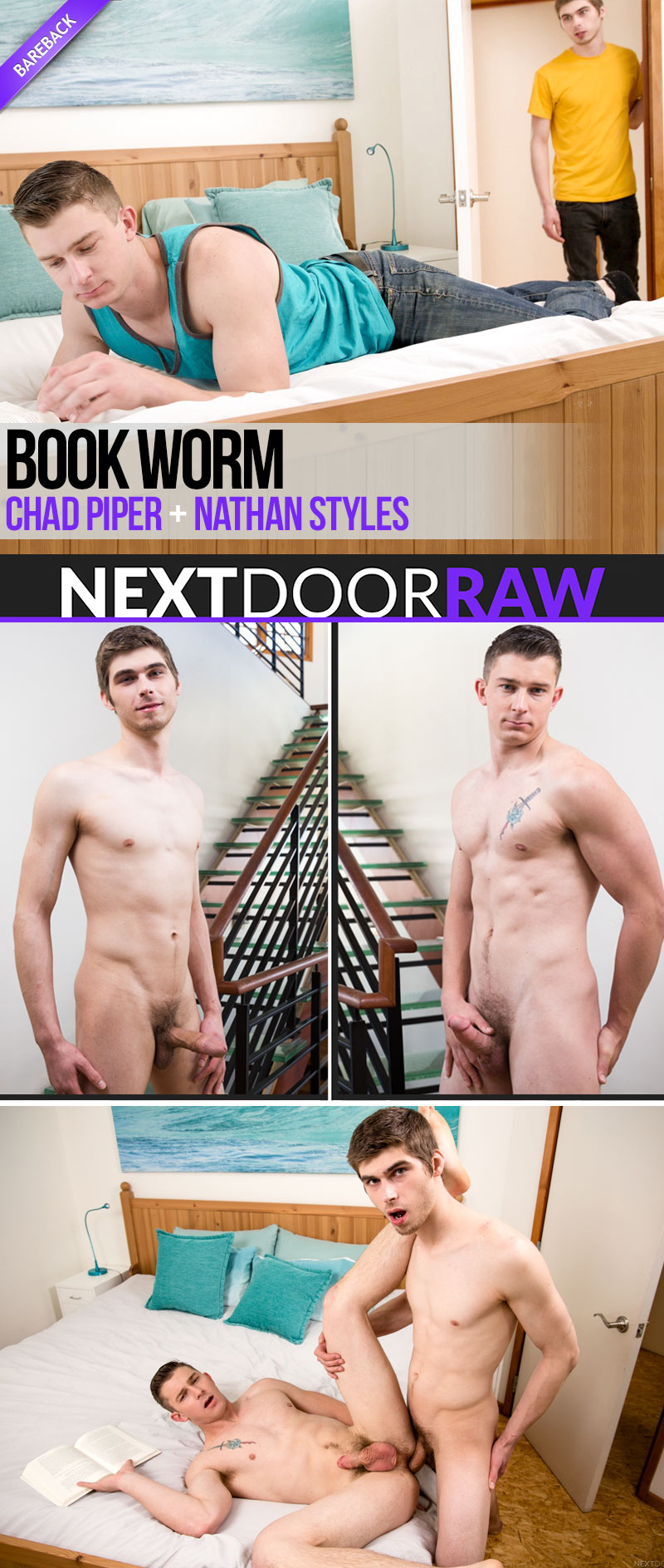 Book Worm (Chad Piper Fucks Nathan Styles) at NextDoorRAW!