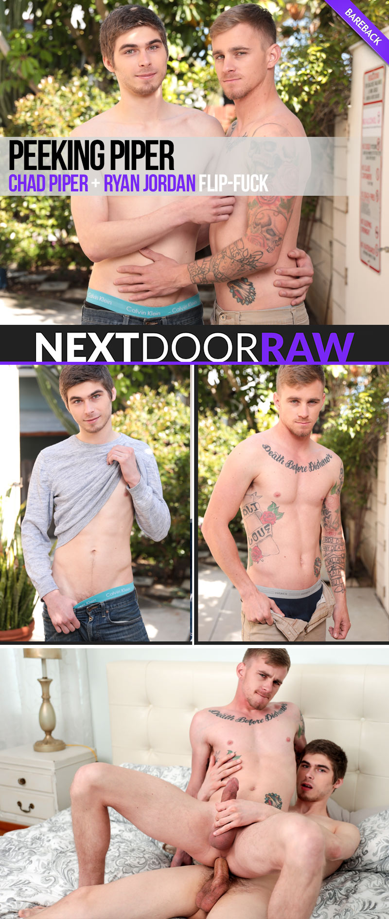 Peeking Piper (Chad Piper and Ryan Jordan Flip-Fuck) at NextDoorRAW!