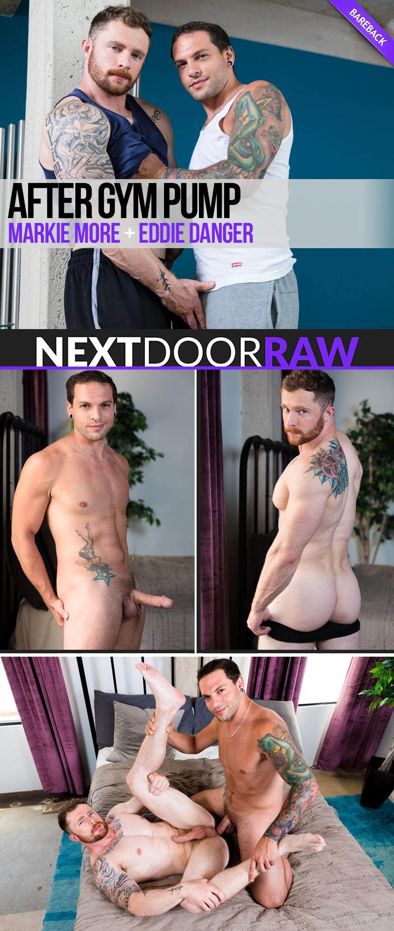 After Gym Pump (Eddie Danger Fucks Markie More) (Bareback) at NextDoorRAW!