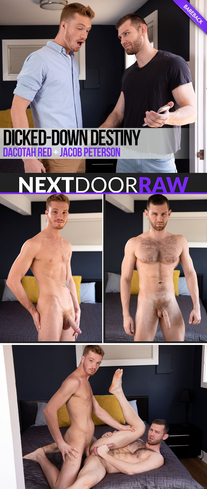 Dicked-Down Destiny (Dacotah Red Fucks Jacob Peterson) (Bareback) at NextDoorRAW!