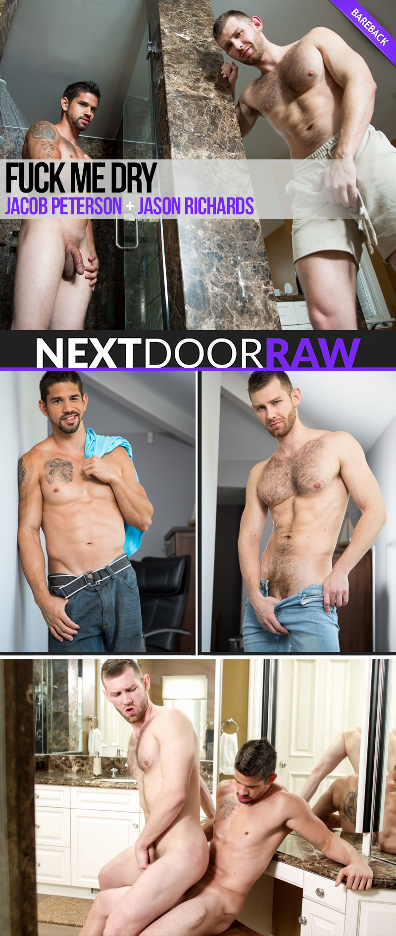 Fuck Me Dry (Jason Richards Fucks Jacob Peterson) (Bareback) at NextDoorRAW!