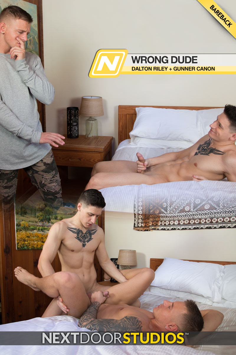 Wrong Dude (Dalton Riley and Gunner Canon Flip-Fuck) (Bareback) at Next Door Studios