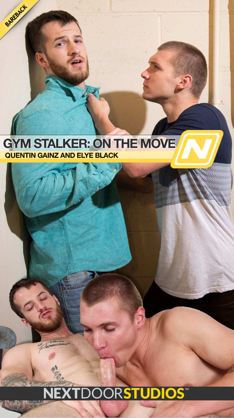 Gym Stalker: On the Move (Quentin Gainz and Elye Black Flip-Fuck) at Next Door Studios