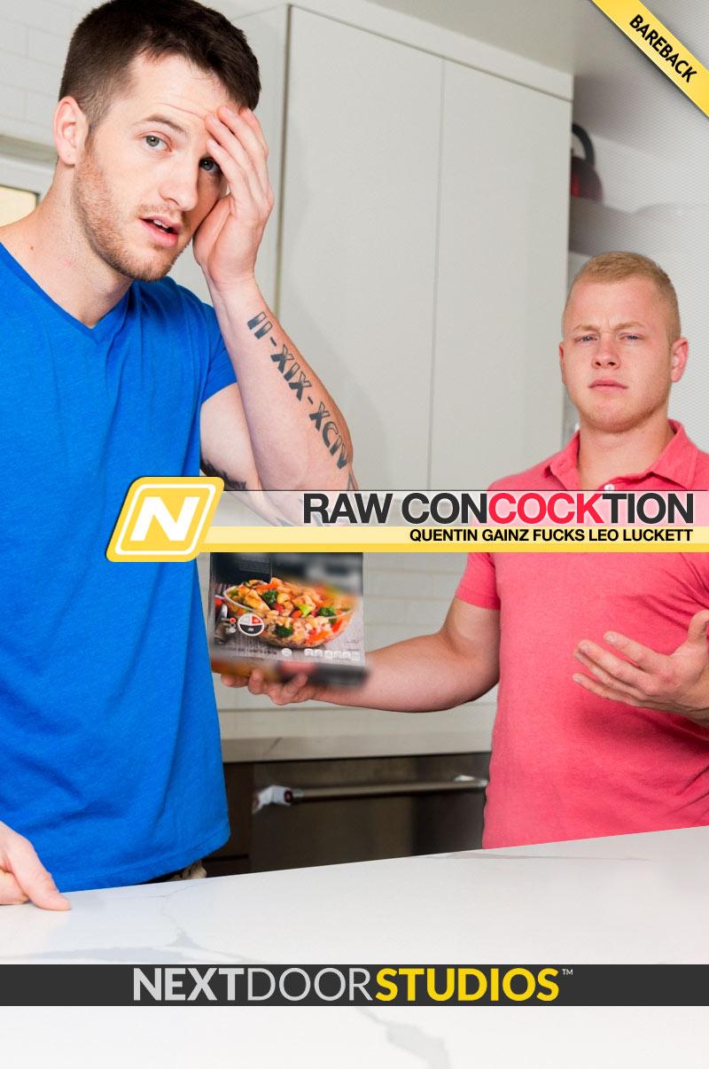 Raw ConCOCKtion (Quentin Gainz Fucks Leo Luckett) (Bareback) at Next Door Studios