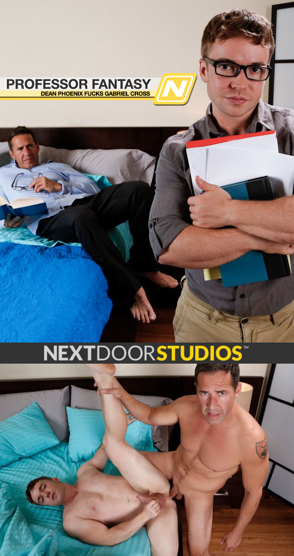 Professor Fantasy (Dean Phoenix Fucks Gabriel Cross) at Next Door Studios