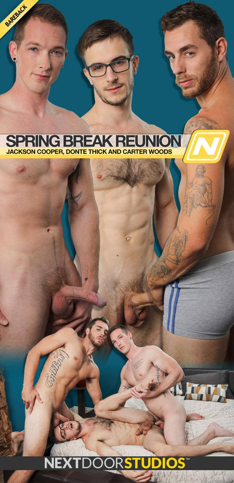 Spring Break Reunion (Jackson Cooper, Donte Thick and Carter Woods) (Bareback) at Next Door Studios