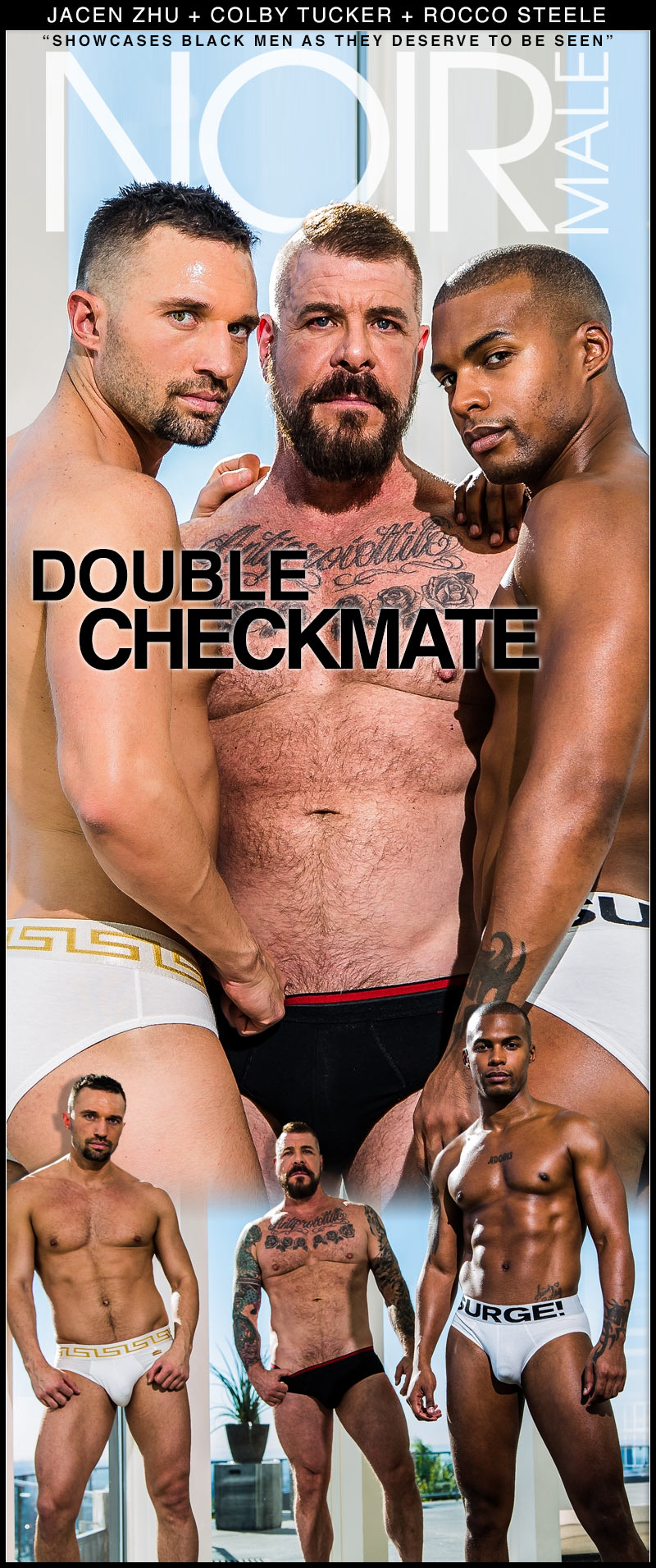 Double Checkmate (Jacen Zhu, Colby Tucker and Rocco Steele) at Noir Male