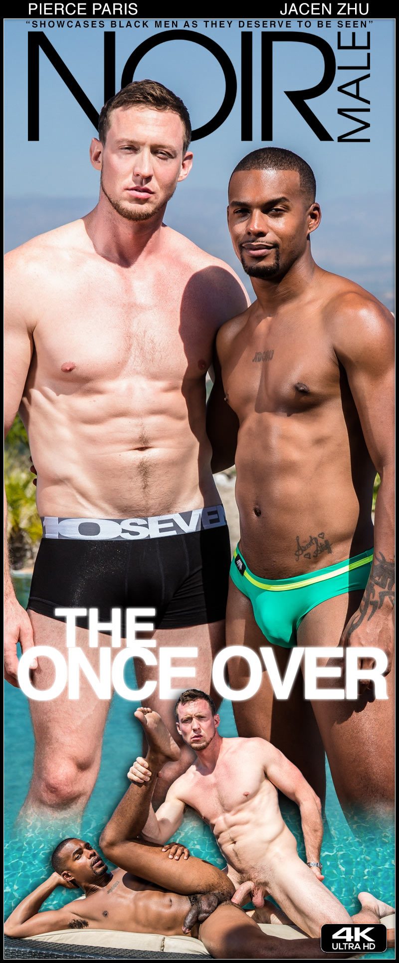 The Once Over (Pierce Paris and Jacen Zhu Flip-Fuck) at Noir Male