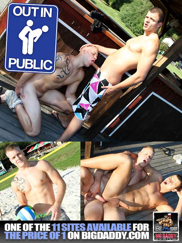 Volley-Ball & Some Dick! (Paul Fresh & Mark) (Bareback) at OutInPublic