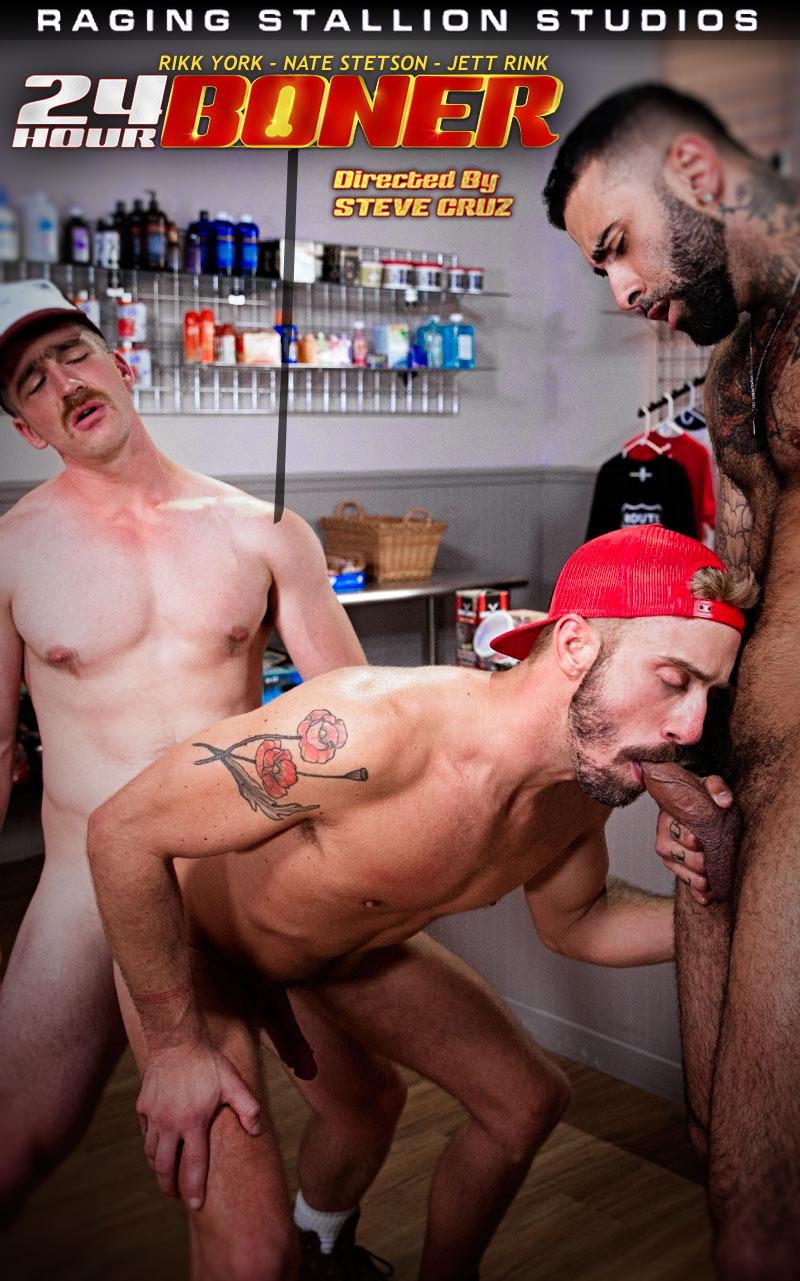 24-Hour Boner (Rikk York, Nate Stetson and Jett Rink) (Scene 6) at Raging Stallion
