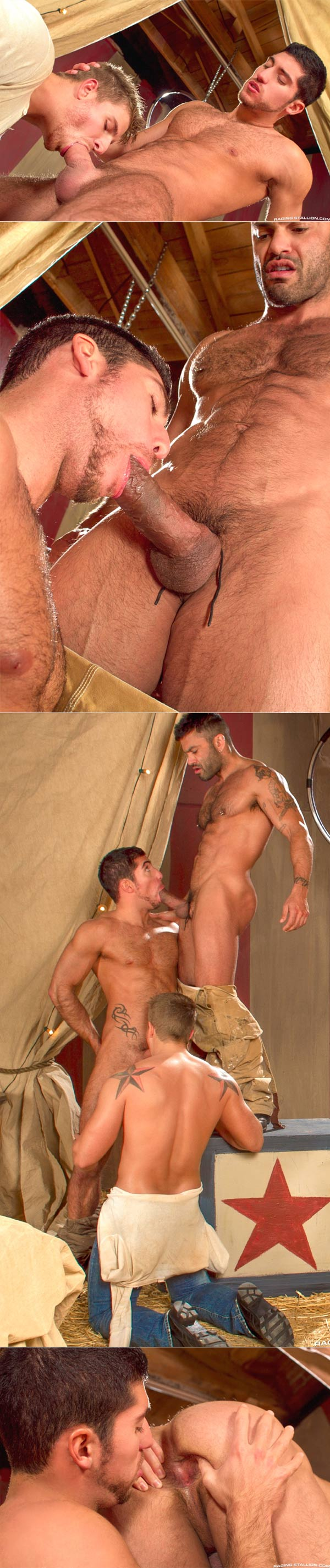Behind The Big Top (Leo Domenico, Logan Vaughn & Rogan Richards) at Raging Stallion