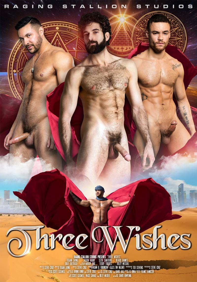 Three Wishes, Scene 4 Woody Fox, Tegan Zayne, Teddy Torres, Beaux Banks and Riley Mitchell) at Raging Stallion