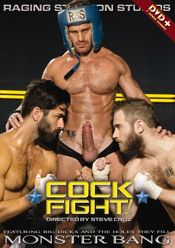 Cock Fight! (Shawn Wolfe, Landon Conrad & Adam Ramzi) (Ultimate Showdown!) at Raging Stallion