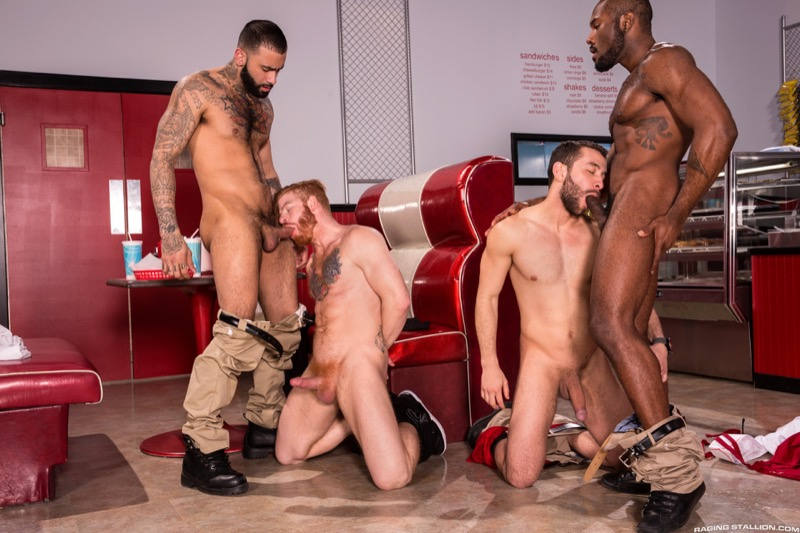 Drive Thru (Noah Donovan, Bennett Anthony, Rikk York and Lucas Allen) (Scene 5) at Raging Stallion