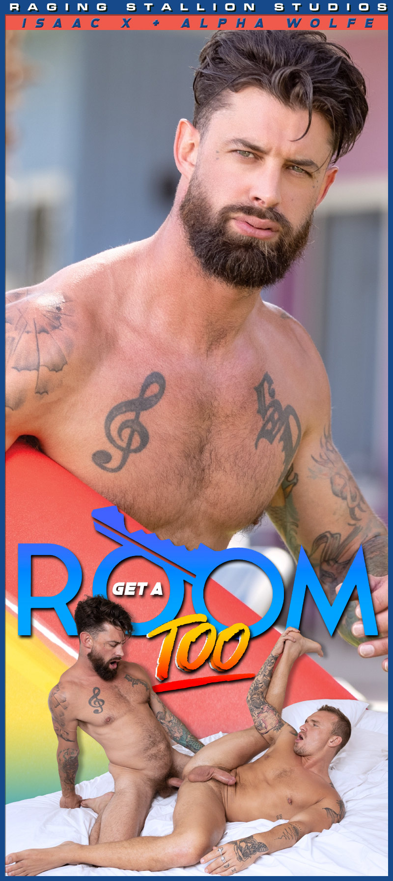 Get A Room TOO, Scene 3 (Isaac X and Alpha Wolfe Flip-Fuck) at Raging Stallion