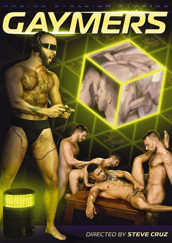 GAYMERS (Spencer Whitman, Hoytt Walker, Xavier Huxx and Ty Mitchell) (Scene 3) at Raging Stallion