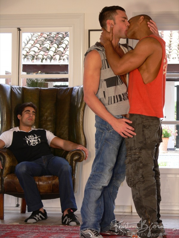 Action!: Part 1 (Rocky Oliveira, Bruno Jones and Breno Lopez) (Scene 1) at Raging Stallion