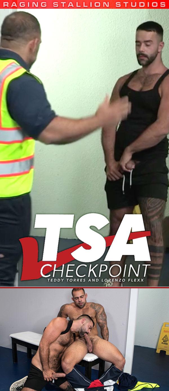 TSA Checkpoint (Teddy Torres and Lorenzo Flexx) (Scene 5) at Raging Stallion